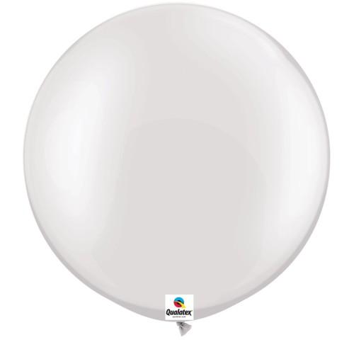 Balon Pearl White 75 cm - svijetleće bijeli - 2 kom