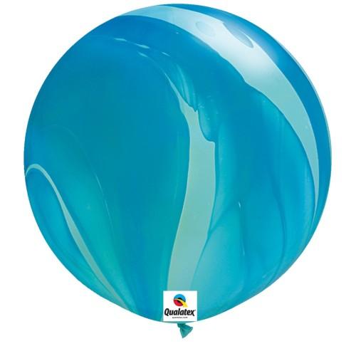 Balon Blue Rainbow - 75 cm - 2 kom