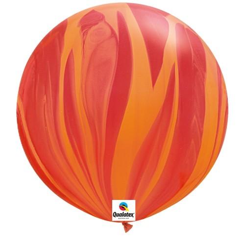 Balon Red Orange Rainbow- 75 cm - 2 kom