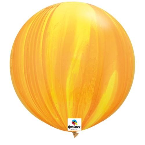 Balon Yellow Orange Rainbow - 75 cm - 2 kom