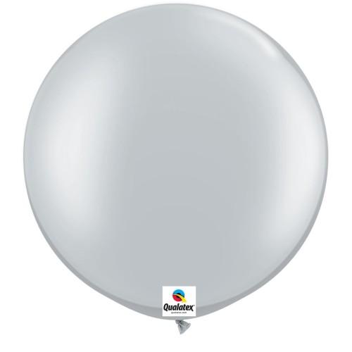 Balon 75 cm Silver - srebreni - 2 kom