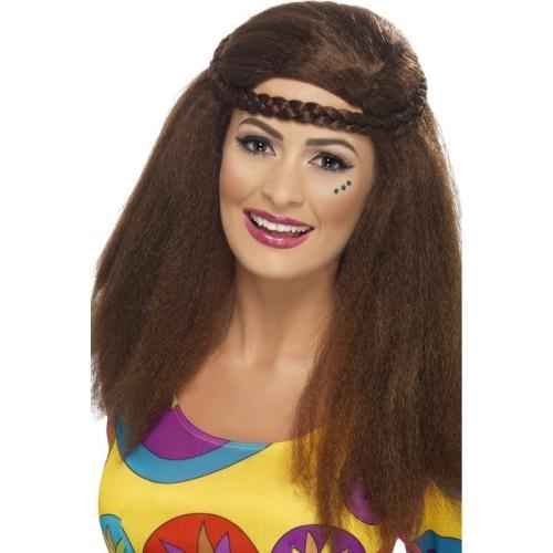Hippy ženska perika smeđa
