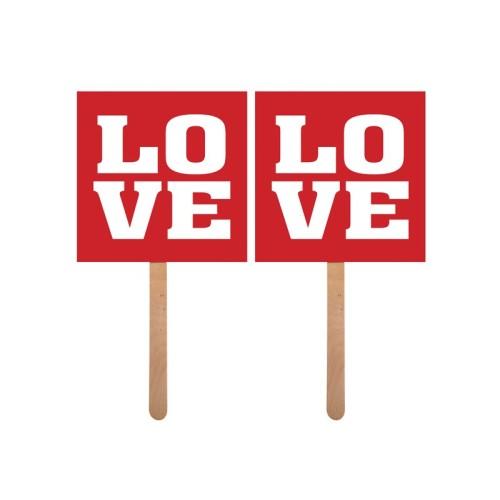 Love - napis na štapu