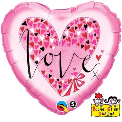 Rachel Ellen Love Little Hearts - folija balon