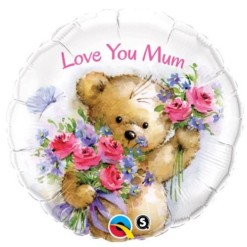 Love You Mum Teddy Bear - folija balon