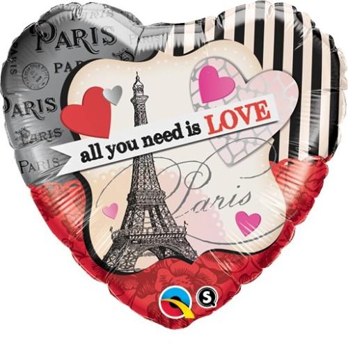 All You Need Is Love - folija balon