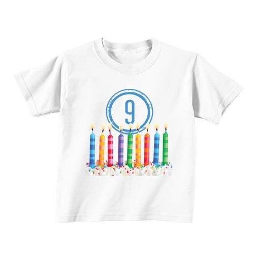 Dječija majica - Broj 9 - Svijeće