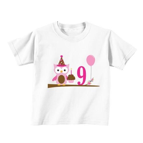 Dječija majica - Broj 9 - sova