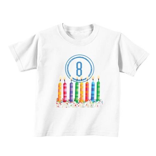 Dječija majica - Broj 8 - Svijeće