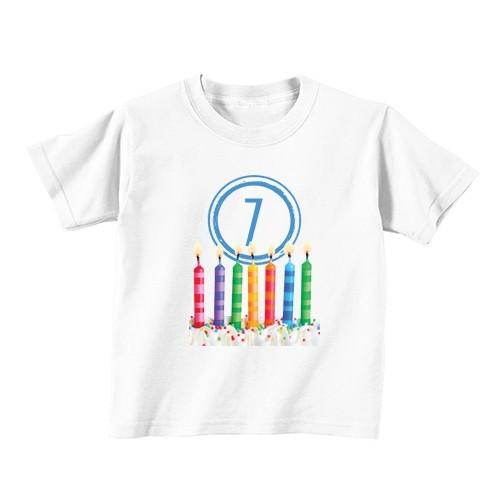 Dječija majica - Broj 7 - Svijeće