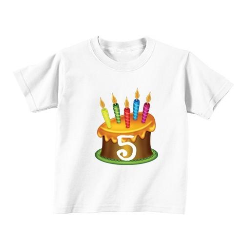 Dječija majica - Broj 5 - zlata tortica