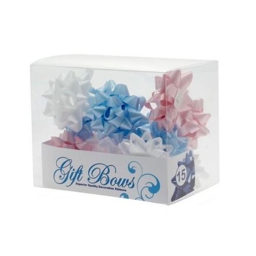 Mašne u kutiji - plava, bijela i pink