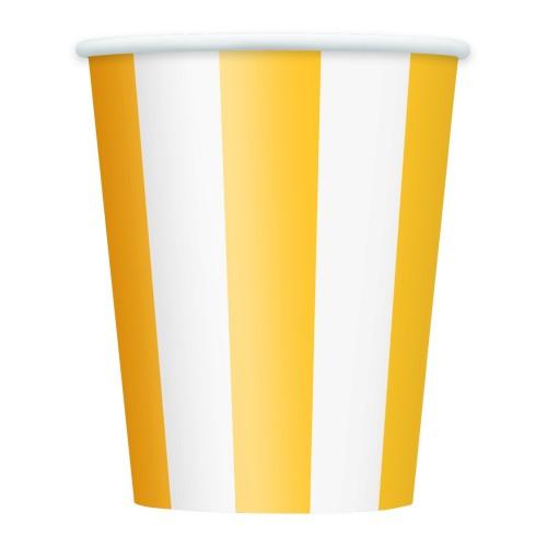 Žute čaše sa crtama