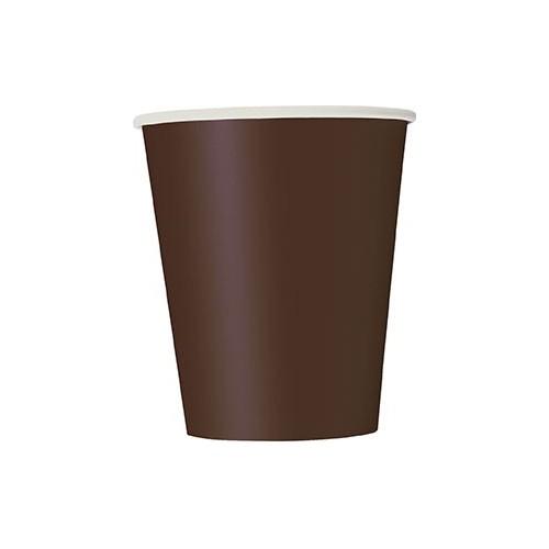 Čaše 360 ml - smeđa 10 kom