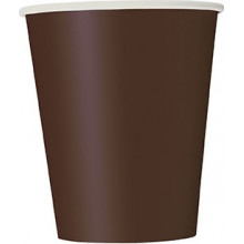 Čaše 270 ml - smeđa 14 kom