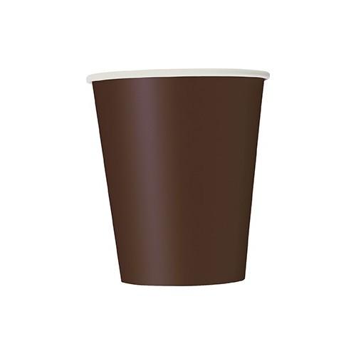 Čaše 270 ml - smeđa 8 kom