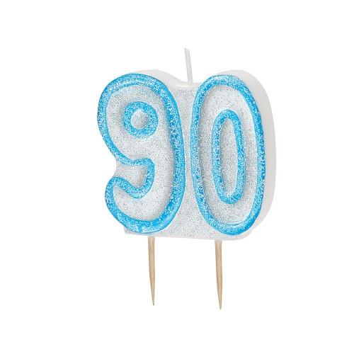 Svijeća sa blistom - plava 90