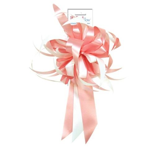 Mašna - pink in bijela