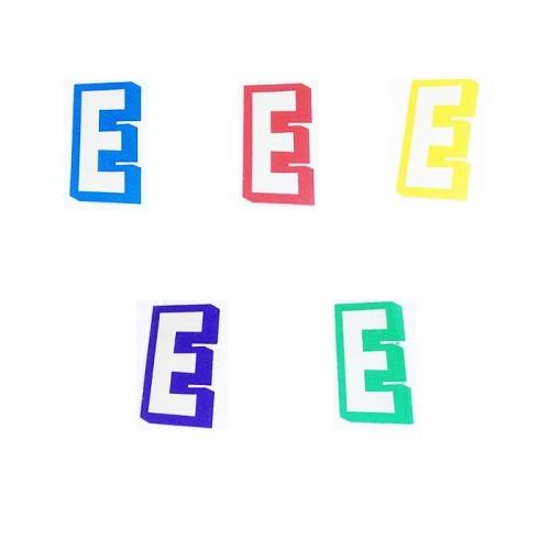 Slovo E - naljepka
