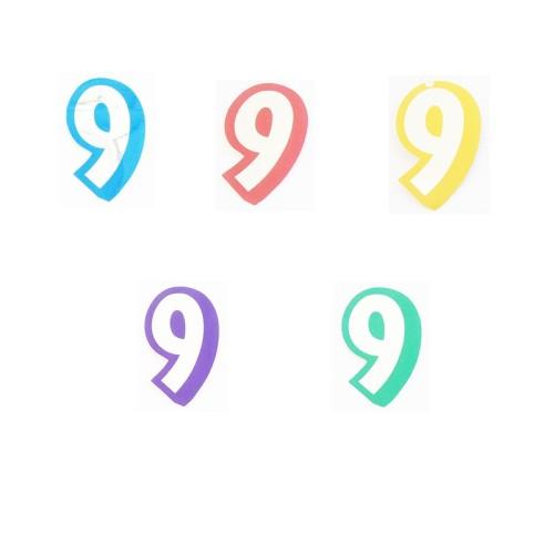 Broj 9 - naljepka