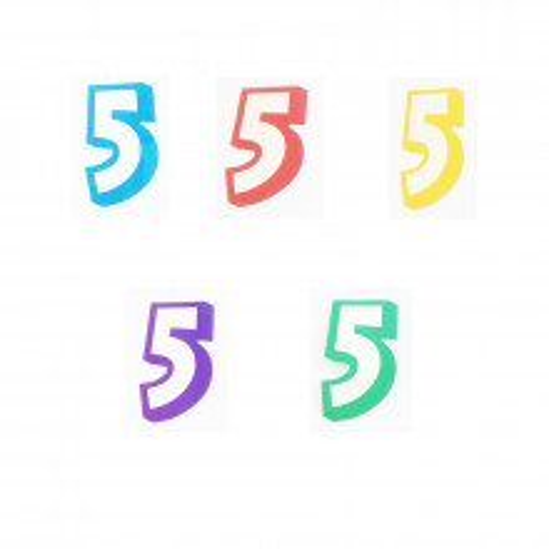 Broj 5 - naljepka