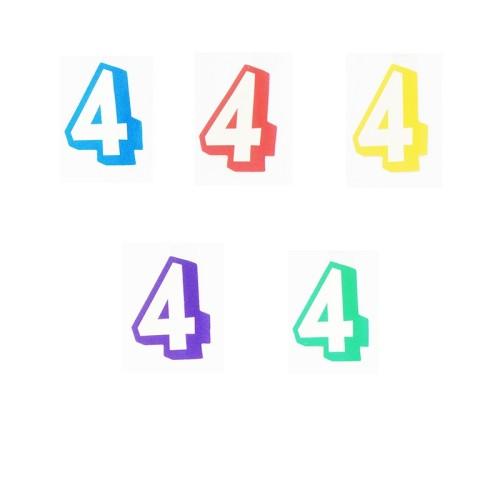 Broj 4 - naljepka