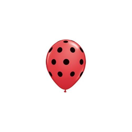 Balon Polka dot - crne točkice 12 cm