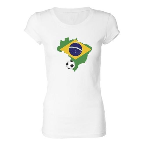Ženska majica - Brazil i lopta