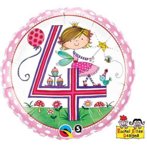 Rachel Ellen Age 4 Fairy Polka Dots - folija balon