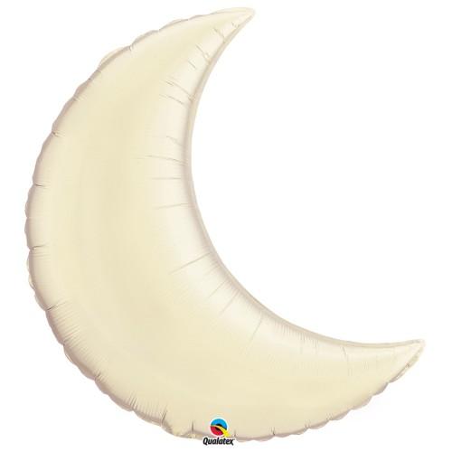 Pearl Ivory Crescent Moon - folija balon 89 cm