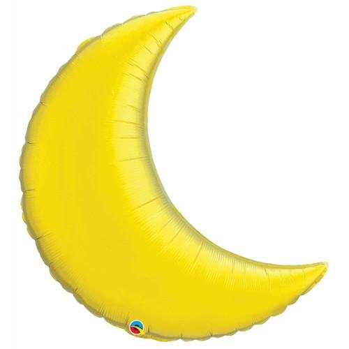 Citrine Yellow Crescent Moon - folija balon 89 cm