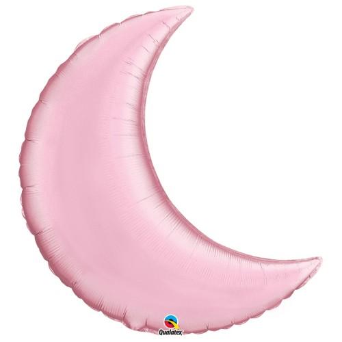 Pearl Pink Crescent Moon - folija balon 89 cm