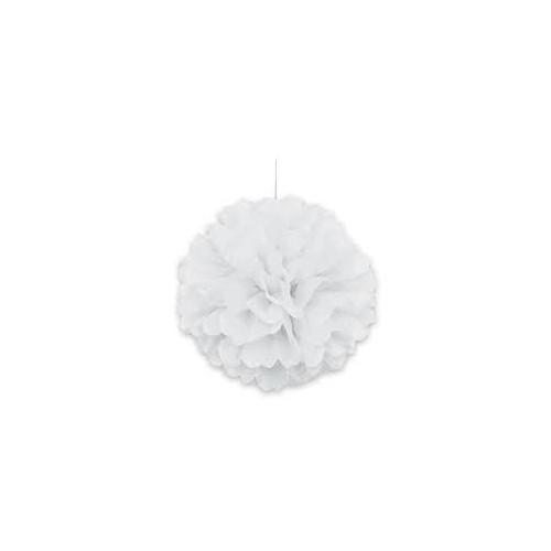 Puff Pom lampion - White