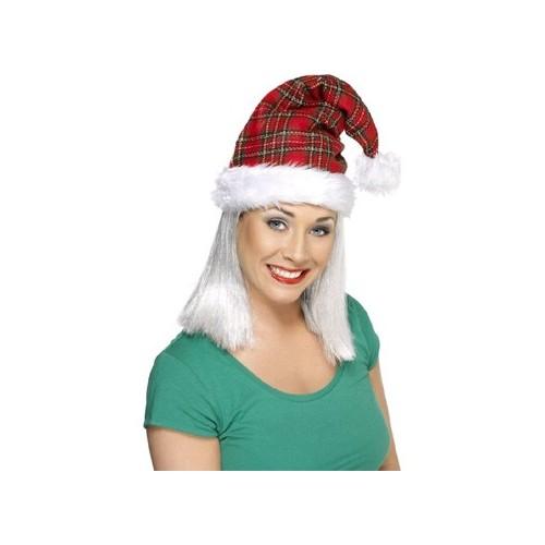 Tartan božićna kapa