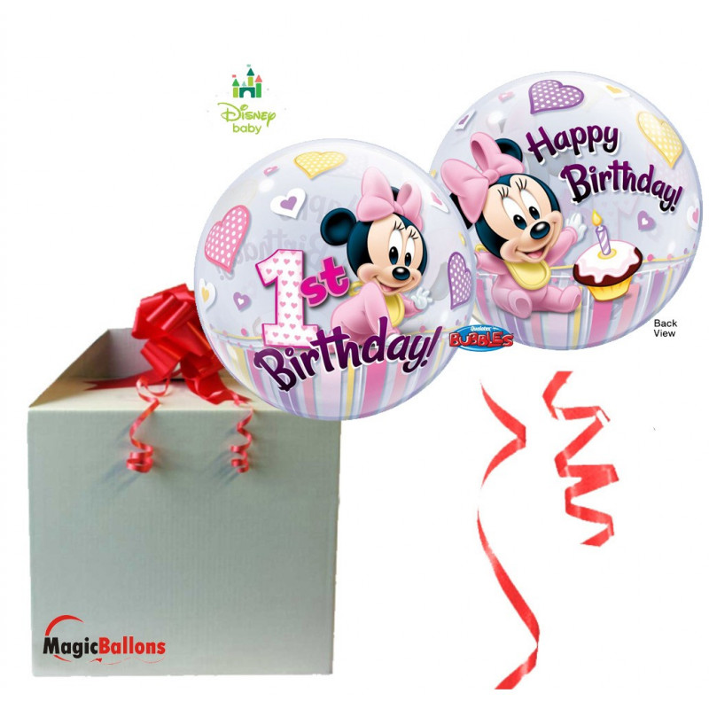 Minnie Mouse 1st Birthday - b.balloon in a package