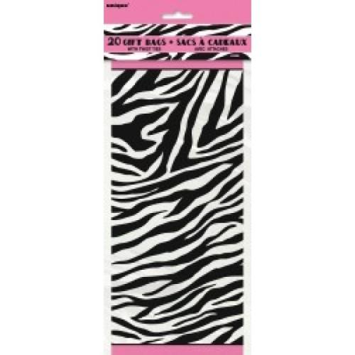 Zebra party celofan vrećice