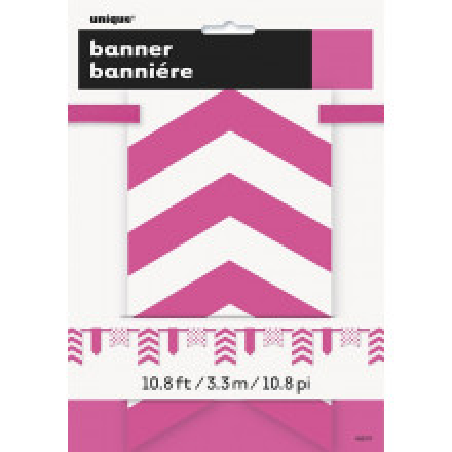 Živo ružičasti banner sa...