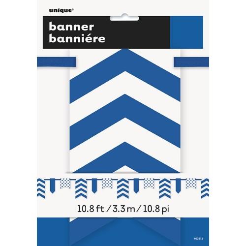 Kraljevsko plava banner sa točkama i prugama