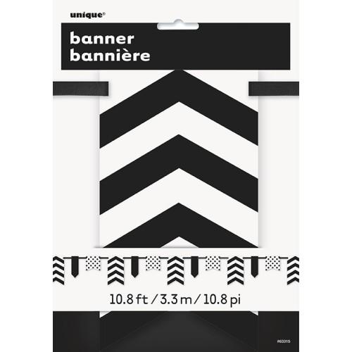Crn banner sa točkama i prugama