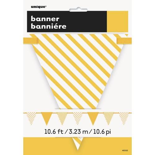 Žute zastave sa točkama i prugama