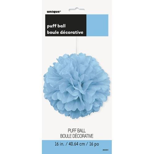 Svijetlo plavi puff pom...