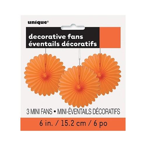 Narančasta mini ukrasna pahljača