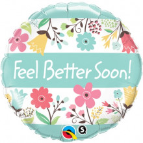 Feel Better Soon! Floral - folija balon