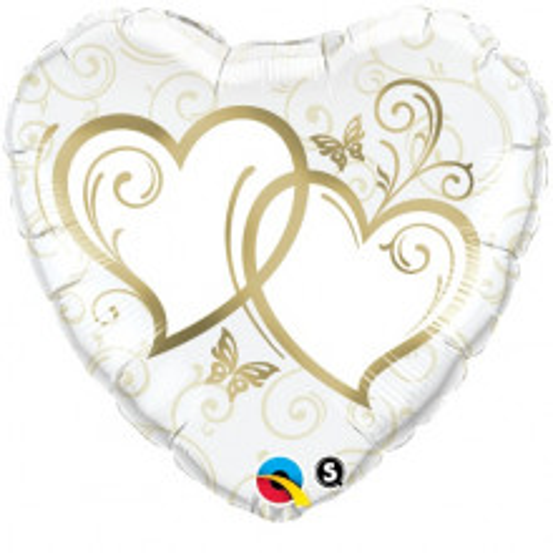 Entwined Hearts Gold - folija balon