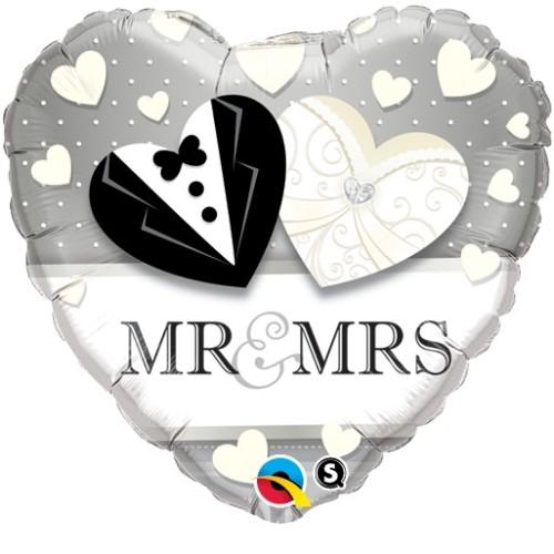 Mr. & Mrs. Wedding - folija balon