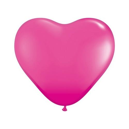 Balon srce 15 cm - wild berry