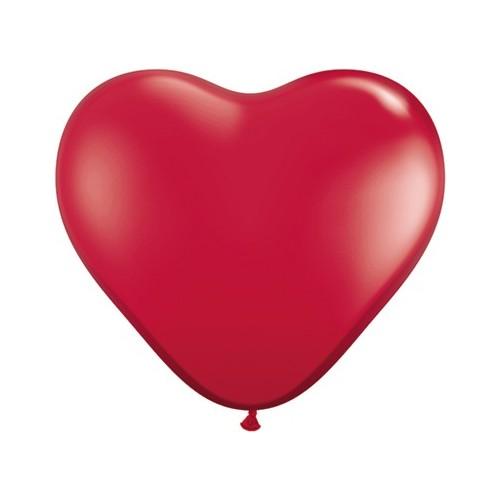 Balon srce 15 cm - rubin crvena