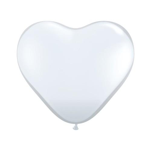Balon srce 15 cm - proziren