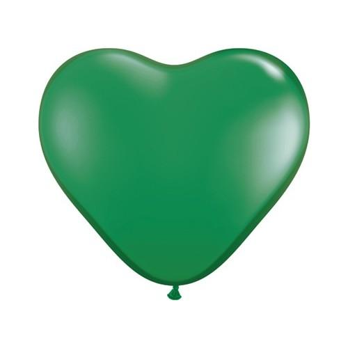 Balon srce 15 cm - zelena
