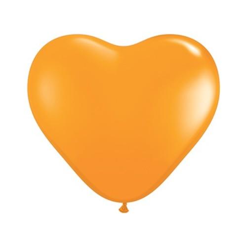 Balon srce 15 cm - narančast